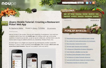http://www.noupe.com/tutorial/jquery-mobile-tutorial-creating-a-restaurant-picker-web-app.html