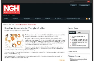 http://www.nghealthcareeurope.com/news/road-traffic-accident-statistics/