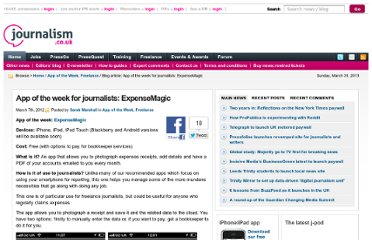 http://blogs.journalism.co.uk/2012/03/07/app-of-the-week-for-journalists-expensemagic/