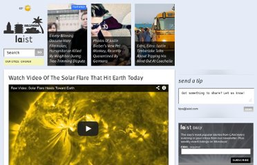 http://laist.com/2012/03/08/watch_video_of_the_solar_flare_that_hit_earth_today.php