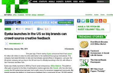 http://techcrunch.com/2011/01/19/eyeka-launches-in-the-us-so-big-brands-can-crowd-source-creative-feedback/