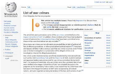 http://en.wikipedia.org/wiki/List_of_war_crimes
