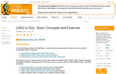 http://www.codeproject.com/Articles/215712/LINQ-to-SQL-Basic-Concepts-and-Features