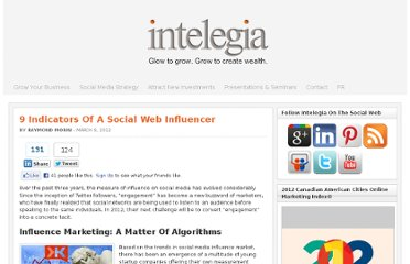 http://www.intelegia.com/en/2012/03/09/9-indicators-of-a-social-web-influencer/