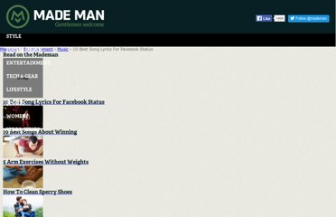 http://www.mademan.com/mm/10-best-song-lyrics-facebook-status.html