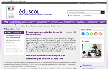 http://eduscol.education.fr/cid47868/evaluation-a-l-ecole-primaire.html