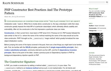 http://ralphschindler.com/2012/03/09/php-constructor-best-practices-and-the-prototype-pattern