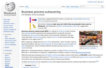 http://en.wikipedia.org/wiki/Business_process_outsourcing