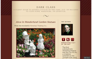 http://darkclass.wordpress.com/2011/04/26/alice-in-wonderland-garden-statues/