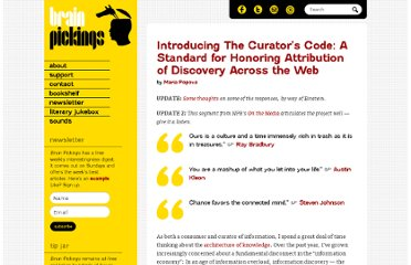 http://www.brainpickings.org/index.php/2012/03/09/curators-code/