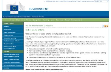http://ec.europa.eu/environment/waste/framework/end_of_waste.htm