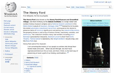 http://en.wikipedia.org/wiki/The_Henry_Ford#Greenfield_Village