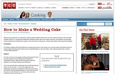 http://recipes.howstuffworks.com/food-facts/how-to-make-a-wedding-cake.htm