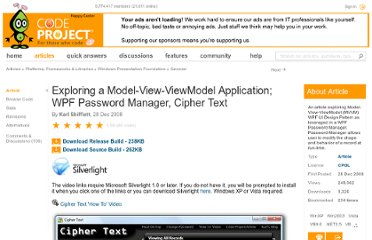 http://www.codeproject.com/Articles/32101/Exploring-a-Model-View-ViewModel-Application-WPF-P