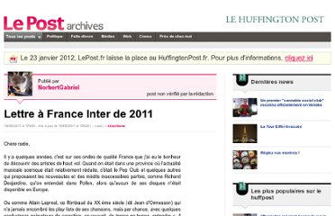 http://archives-lepost.huffingtonpost.fr/article/2011/08/19/2571630_lettre-a-france-inter-de-2011.html