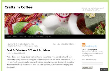 http://craftsncoffee.com/2011/08/12/fast-fabulous-diy-wall-art-ideas/