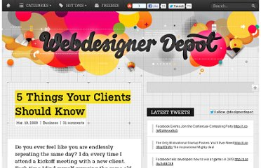 http://www.webdesignerdepot.com/2009/03/5-things-your-clients-should-know/