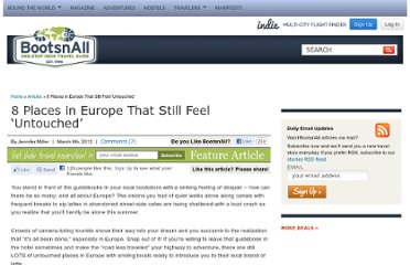 http://www.bootsnall.com/articles/12-03/8-places-europe-still-feel-untouched.html