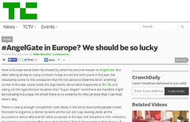 http://techcrunch.com/2010/09/23/angelgate-in-europe-we-should-be-so-lucky/