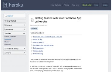 https://devcenter.heroku.com/articles/facebook#create_an_app