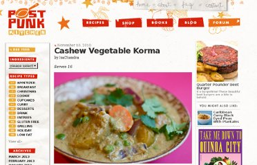 http://www.theppk.com/2010/11/cashew-vegetable-korma/