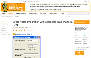 http://www.codeproject.com/Articles/18517/Lotus-Notes-Integration-with-Microsoft-NET-Platfor