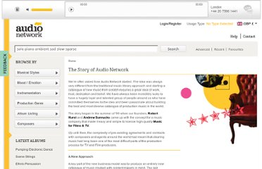 http://www.audionetwork.com/content/who-we-are/the-story-of-audio-network