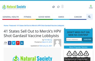 http://naturalsociety.com/41-states-sell-out-to-mercks-hpv-shot-gardasil-vaccine-lobbyists/