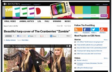 http://www.cbsnews.com/8301-504784_162-57392577-10391705/beautiful-harp-cover-of-the-cranberries-zombie/