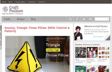 http://www.craftpassion.com/2011/03/sewing-triangle-throw-pillow-with-tutorial-pattern.html