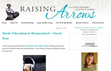 http://www.raisingarrows.net/2010/02/music-education-in-homeschool-guest/