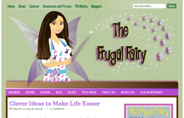 http://thefrugalfairy.com/2012/01/14/25-clever-ideas-to-make-life-easier/
