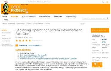 http://www.codeproject.com/Articles/39027/Beginning-Operating-System-Development-Part-One