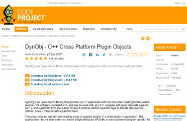 http://www.codeproject.com/Articles/20648/DynObj-C-Cross-Platform-Plugin-Objects