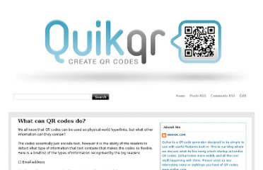 http://quikqr.blogspot.com/2009/04/what-can-qr-codes-do.html