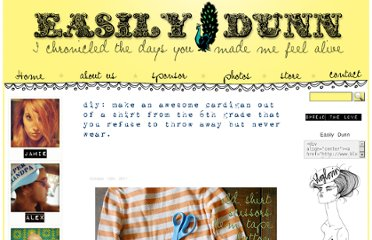 http://blog.easilydunn.com/2011/10/diy-make-an-awesome-cardigan-out-of-a-shirt-from-the-6th-grade-that-you-refuse-to-throw-away-but-never-wear/