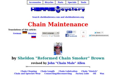 http://sheldonbrown.com/chains.html