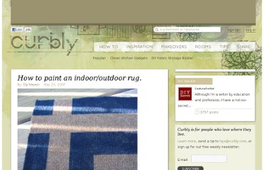 http://www.curbly.com/users/diy-maven/posts/1654-how-to-paint-an-indoor-outdoor-rug