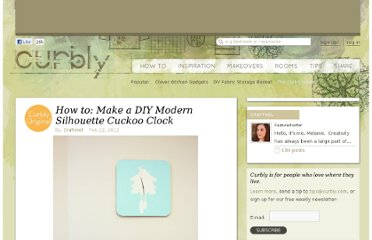 http://www.curbly.com/users/craftmel/posts/13450-how-to-make-a-diy-modern-silhouette-cuckoo-clock