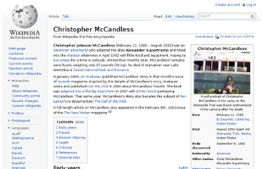http://en.wikipedia.org/wiki/Christopher_McCandless