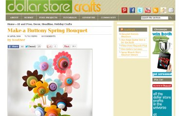 http://dollarstorecrafts.com/2009/04/button-bouquet/