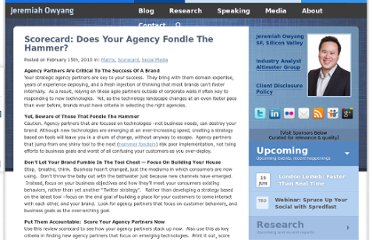 http://www.web-strategist.com/blog/2010/02/15/scorecard-does-your-agency-fondle-their-hammer/