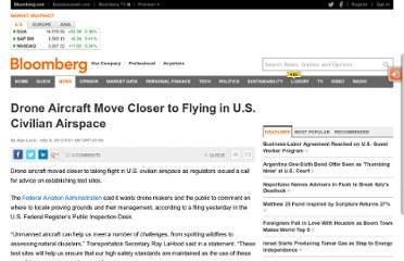 http://www.bloomberg.com/news/2012-03-07/drone-aircraft-move-closer-to-flying-in-u-s-civilian-airspace.html