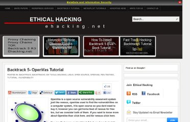 http://www.ehacking.net/2011/06/backtrack-5-openvas-tutorial.html