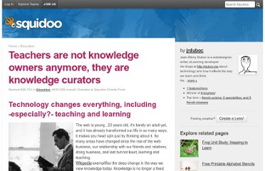 http://www.squidoo.com/teachers-are-knowledge-curators