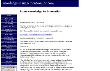 http://www.knowledge-management-online.com/from-knowledge-to-innovation.html