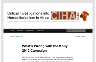 http://www.cihablog.com/whats-wrong-with-the-kony-2012-campaign/