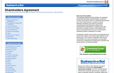 http://www.biztree.com/Templates/Shareholders-Agreement.html
