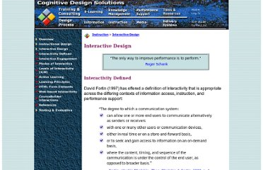 http://www.cognitivedesignsolutions.com/Instruction/InteractiveDesign.htm