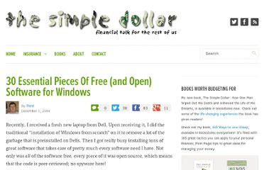 http://www.thesimpledollar.com/2006/12/01/30-essential-pieces-of-free-and-open-software-for-windows/